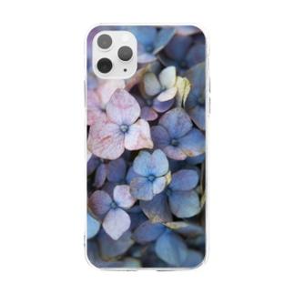 紫陽花 A Soft clear smartphone cases