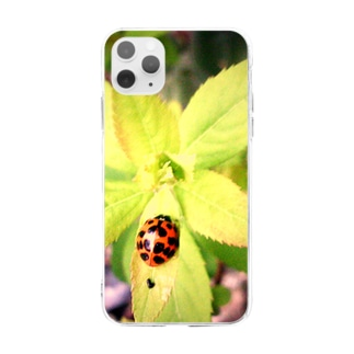 落し物 Soft clear smartphone cases
