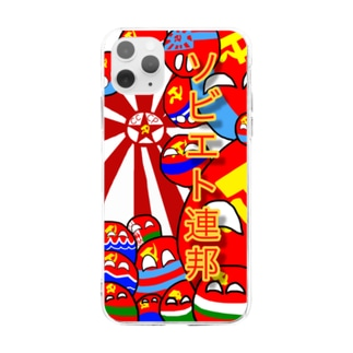カントリーボール ソ連 ソビエト連邦 スマホケース  ソビエト社会主義共和国連邦 Soft clear smartphone cases