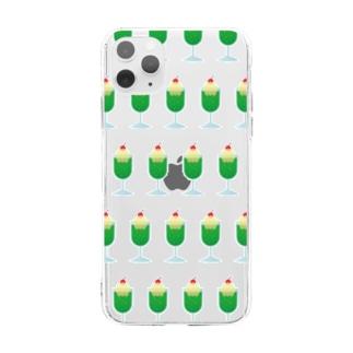 クリームソーダ Soft clear smartphone cases