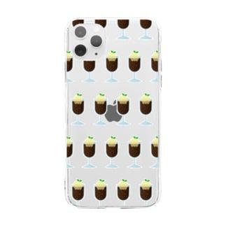 コーヒーフロート Soft clear smartphone cases