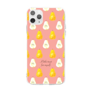 ラ・フランス in pink Soft clear smartphone cases