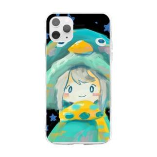 ぺんぎんの防寒具 Soft clear smartphone cases