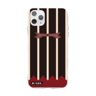 山形文様陣羽織柄 ソフトクリアスマホケース Soft clear smartphone cases