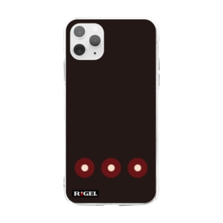蛇目紋黒羅紗陣羽織柄 ソフトクリアスマホケース Soft clear smartphone cases