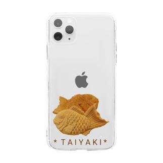 鯛焼き(写真) Soft clear smartphone cases