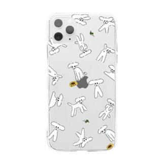 トイプードルのiPhoneケース Soft clear smartphone cases