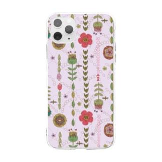 フラワー Soft clear smartphone cases