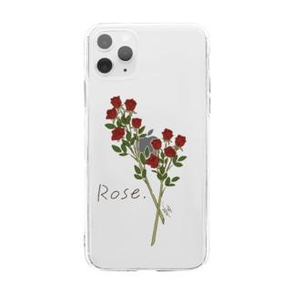 FLOWER〈Rose〉 Soft Clear Smartphone Case