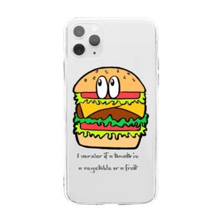 ハンバーガー/モンスター Soft clear smartphone cases