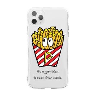 フライドポテト/モンスター Soft clear smartphone cases