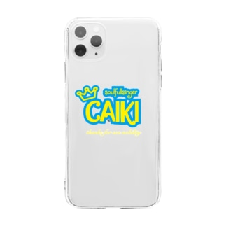 CAIKIロゴiPhoneケース Soft clear smartphone cases