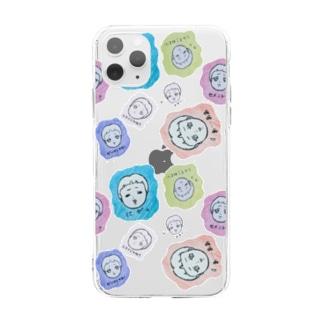 四方八方、顔 Soft clear smartphone cases