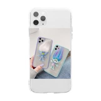 トロール人形 iphone11/12proケース Soft clear smartphone cases