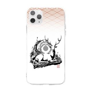 《神鹿》デザイン Soft clear smartphone cases