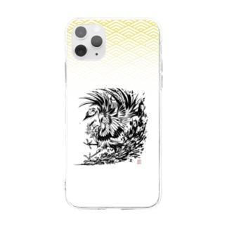 《鳳凰》デザイン Soft clear smartphone cases