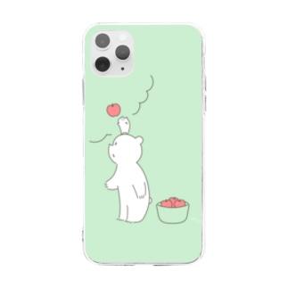 こぐまとはむ りんご Soft clear smartphone cases
