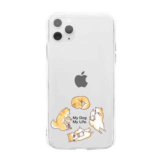 My Dog My Life Second 赤柴 Soft clear smartphone cases
