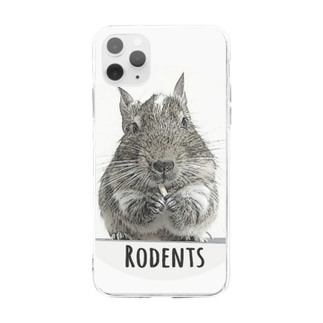 Rodents デグー  Soft Clear Smartphone Case