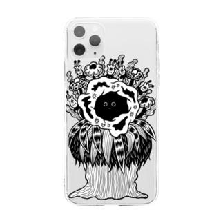なにかいる Soft clear smartphone cases