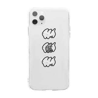 ぼよぼようさぎ Soft clear smartphone cases
