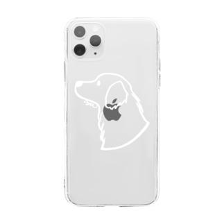 ゴールデン・レトリーバー〈白線〉 Soft clear smartphone cases