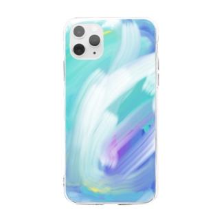 波 Soft clear smartphone cases