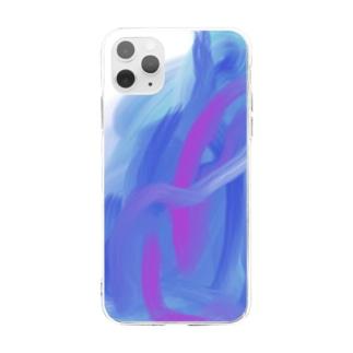 重なり Soft clear smartphone cases