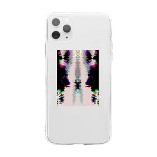 痛む胸 Soft clear smartphone cases