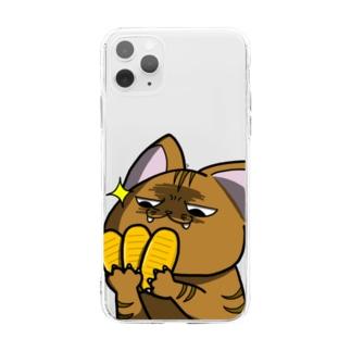 価値の分かる猫 Soft clear smartphone cases