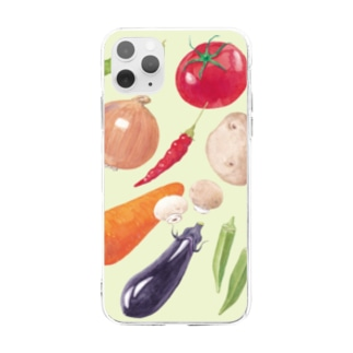 VEGETABLE Soft clear smartphone cases
