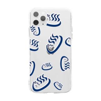 ♨️大津湯福ちゃんダラケ♨️ Soft clear smartphone cases