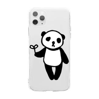 らくがきシリーズ★ふにゃふにゃパンダ Soft clear smartphone cases
