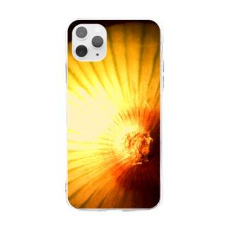 アート的 玉ねぎ2 Soft clear smartphone cases