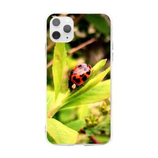 てんとう虫のスマホケース Soft clear smartphone cases