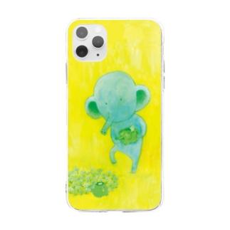 カッパとコゾウ_スマホケース Soft clear smartphone cases