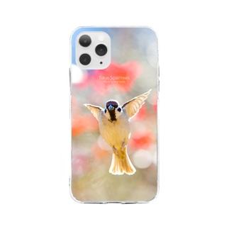 天使の羽ばたき Soft clear smartphone cases
