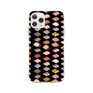 SUSHI_1FB_K Soft clear smartphone cases