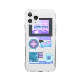 GAMEOVER Soft clear smartphone cases