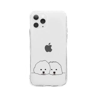 parkmansionのmamegoma02 Soft Clear Smartphone Case