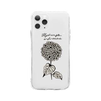 植物図鑑シリーズ...アナベル Soft clear smartphone cases