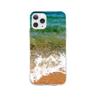 瀬戸内の海 Soft clear smartphone cases