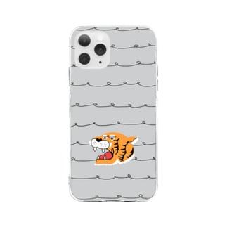タイガーちゃん Soft clear smartphone cases