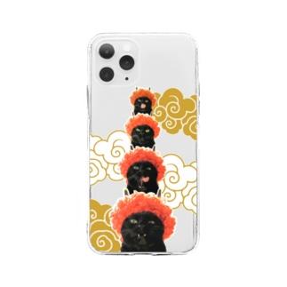鬼だんだん【iPhone 11Pro】 【iPhone 12 Pro MAX】用  Soft Clear Smartphone Case