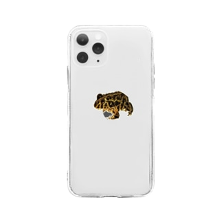 アフリカウシガエル Soft clear smartphone cases