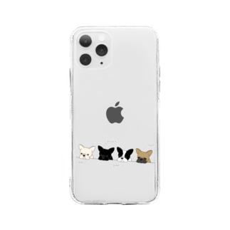 フレブルたち Soft clear smartphone cases