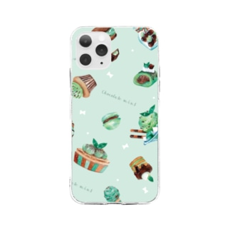 & colorsのチョコミント Soft clear smartphone cases