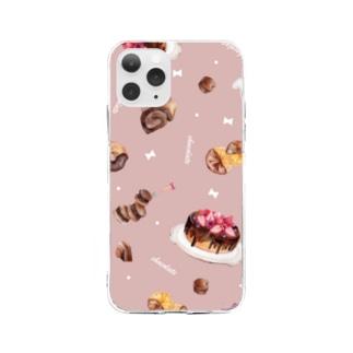 チョコレート Soft clear smartphone cases