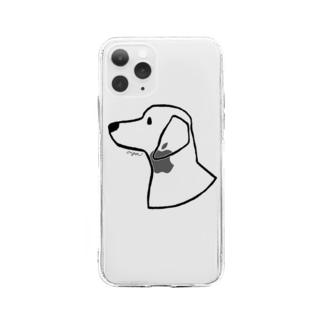 ダックスフント Soft clear smartphone cases