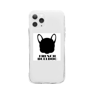 French Friendsのフレンチブルドッグ雑貨 Soft clear smartphone cases